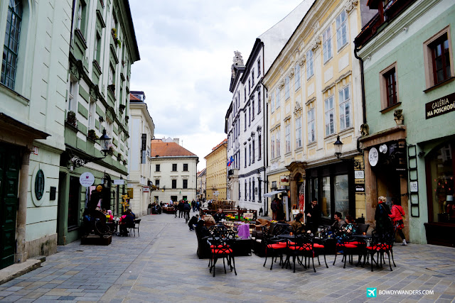 bowdywanders.com Singapore Travel Blog Philippines Photo :: Slovakia :: St. Michael's Street and St. Michael's Gate in Bratislava