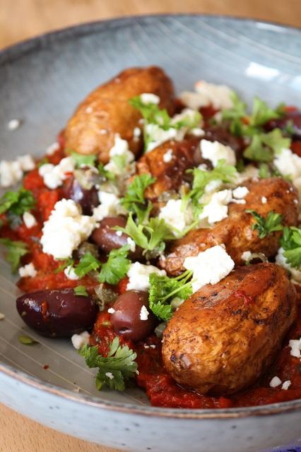 Junge Kartoffeln in pikanter Tomatensauce