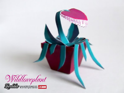 Wildloveplant paper toy