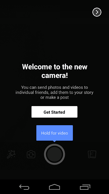 Capture image or record Video for Facebook Stories