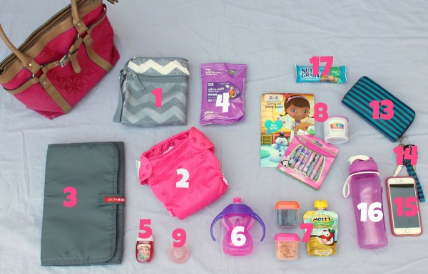 Everything I include in my purse when I'm traveling with my toddler so that I don't have to carry a separate diaper bag. This website includes a free printable checklist of items so you won't forget anything.