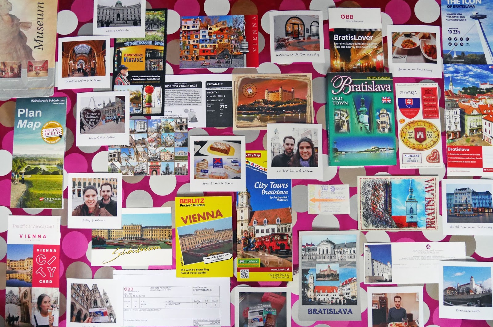 Bratislava and Vienna travel scrapbook materials