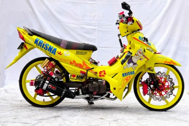 Modifikasi Motor Yamaha Jupiter Z 2010 Yellow Red
