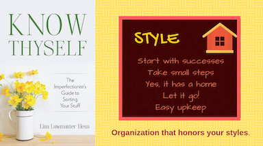 Organizing by STYLE blog