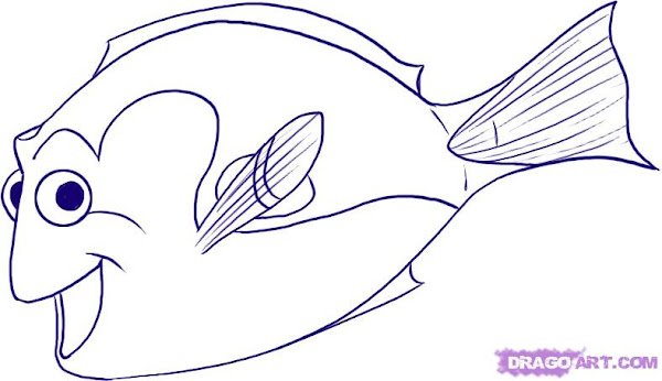 Finding Dory Coloring Sheets Free - Colorings.net