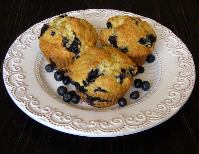 mufjag1 Muffiny kukurydziane z jagodami