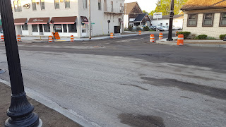 the Cottage and East Central/Main St intersection has been ground down