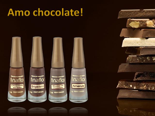 Coleçao de esmalte Amo Chocolate
