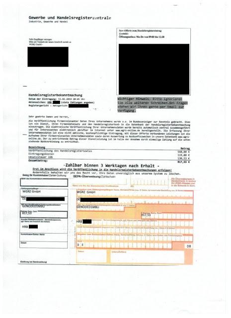 Scan: Offerte WGRZ GmbH / Februrar 2019