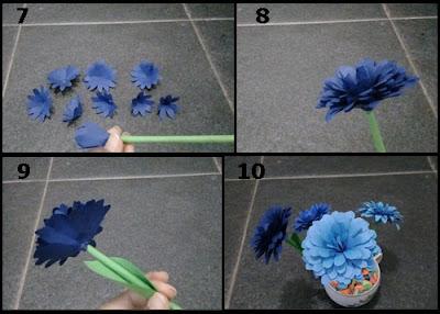 Gambar Tutorial Membuat Bunga Daisy dari Kertas Origami 2