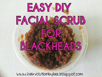 diy facial scrub for acne