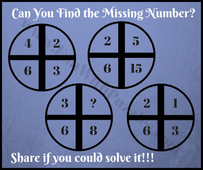 Can you find missing number in circle quickly?