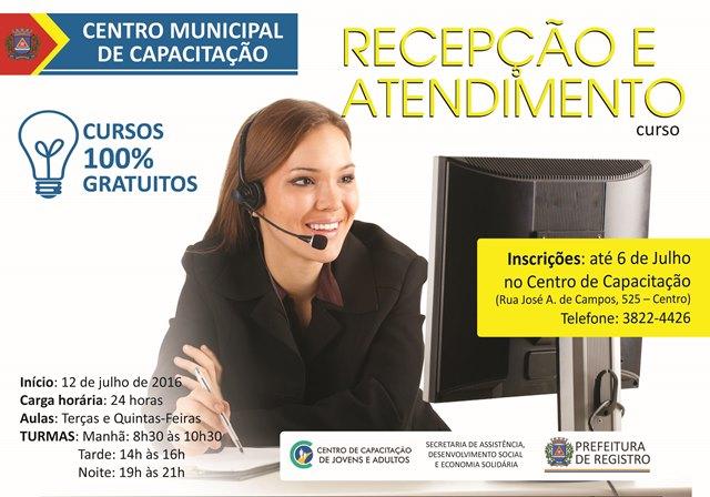 Centro Municipal de Capacitação recebe inscrições para cursos na área de Administração