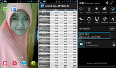 Menampilkan Speed Internet di Status Bar