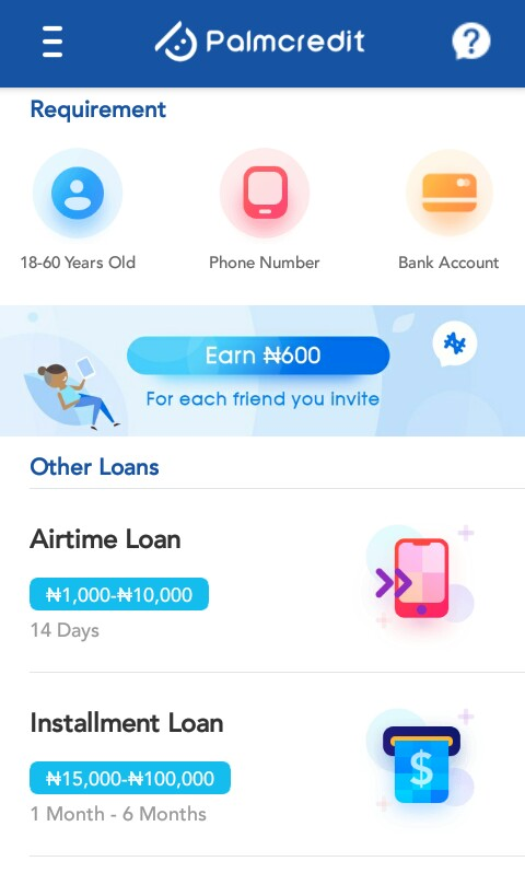 Palmcredit Review: Mobile Application to loan money in Nigeria