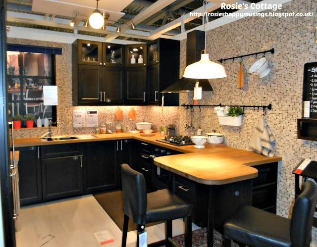 Ikea Dark Wood Kitchen