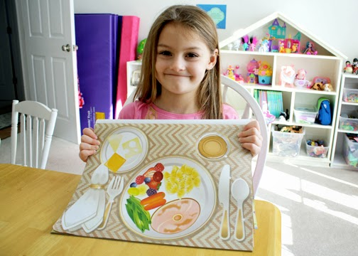 First, Tessa created a balanced meal with Melissa & Doug Make-a-Meal Sticker Pad to demonstrate one way to respect herself.