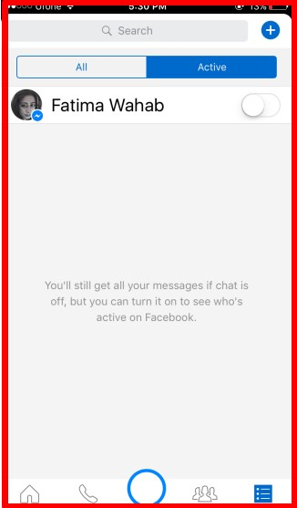 facebook messenger online status hide
