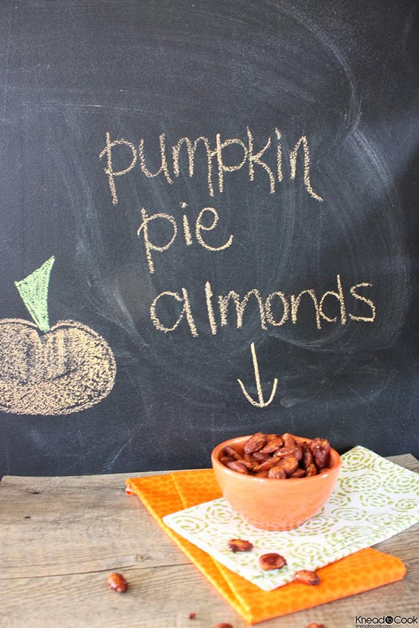 Pumpkin Pie almonds featured @hearthandmadeuk -- Hello October! Come on over and discover 25 things to do this October!! Make Crockpot Cider. This image is a fabulous example of all that is lovely about Fall/Autumn. I love that I live in a world where there are seasons! The red apples and cinnamon sticks are perfect scents for the season.