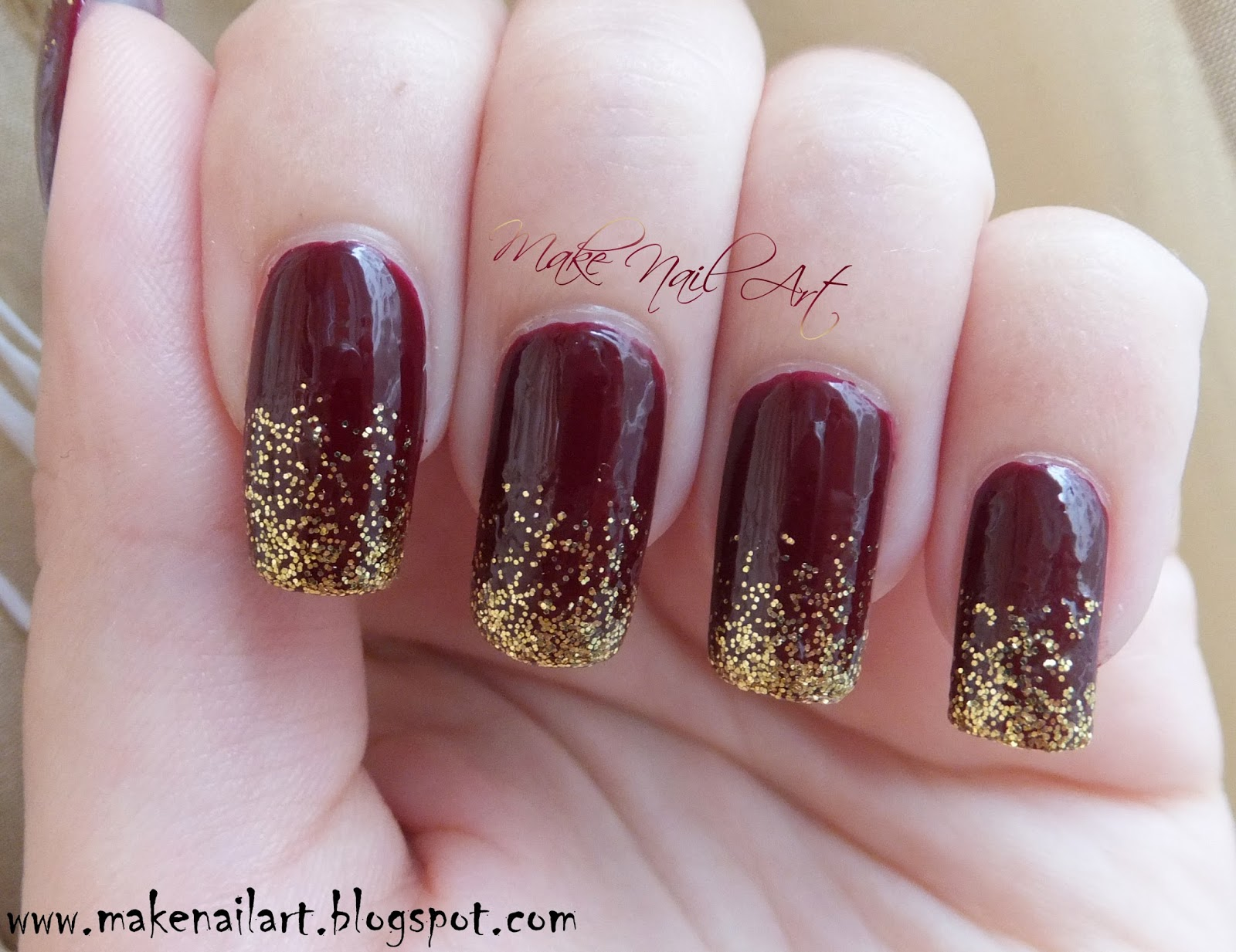 Make Nail Art: Easy And Fast Autumn / Fall Inspired Nail Art Design ...