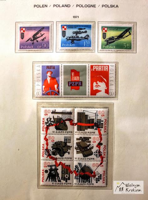 Znaczki pocztowe 1971 rok