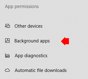 Windows 10 Background Apps Permission