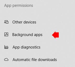 Windows 10 Background Apps Permission
