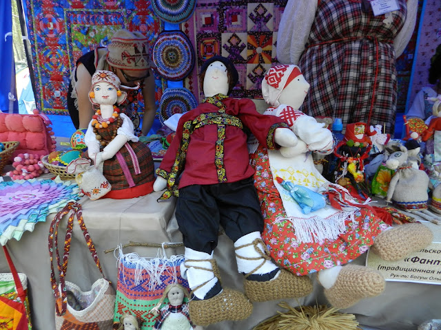 Тряпичные куклы в одной из экспозиций