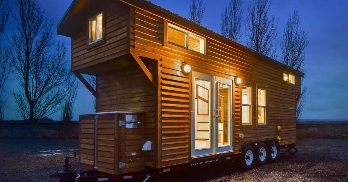 Tiny house town rustic tiny from mint tiny house company for Small house companies