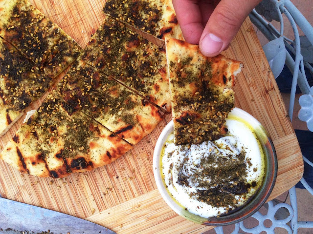Grilled Flatbread With Olive Oil and Za'atar