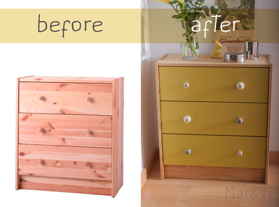 Ikea hacks: Cassettiera Rast before_after