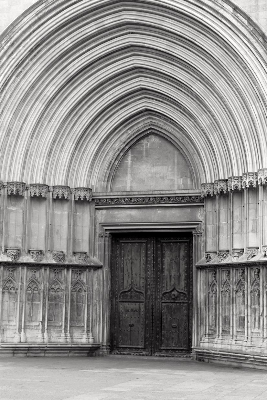 Ornate church door in Girona, Spain - travel & lifestyle blog
