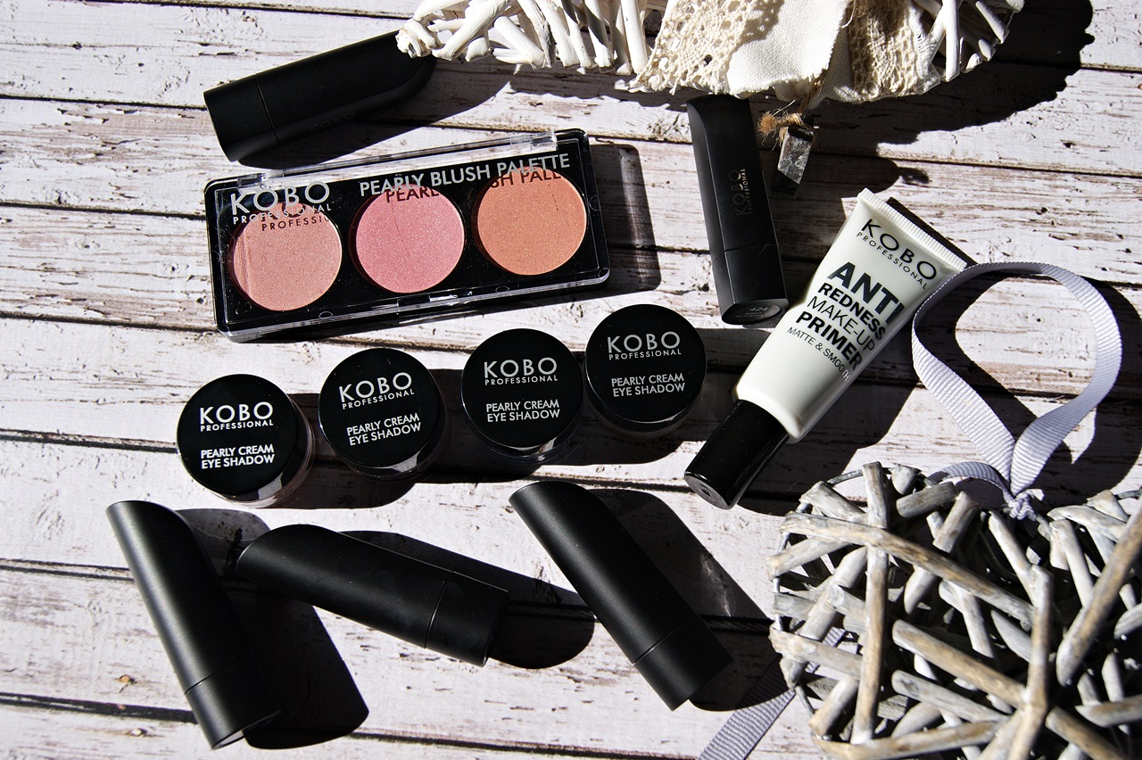 KOBO - Matte Lips, Pearly Cream Eye Shadow, Pearly Blush Palette