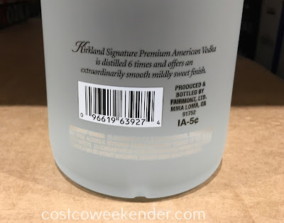 Costco 999910 - Kirkland Vodka - great for shooting, mixed drinks, or on the rocks