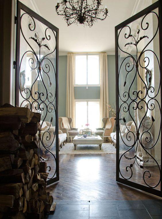 40 Wrought Iron Interior Divider & Furniture Designs ...