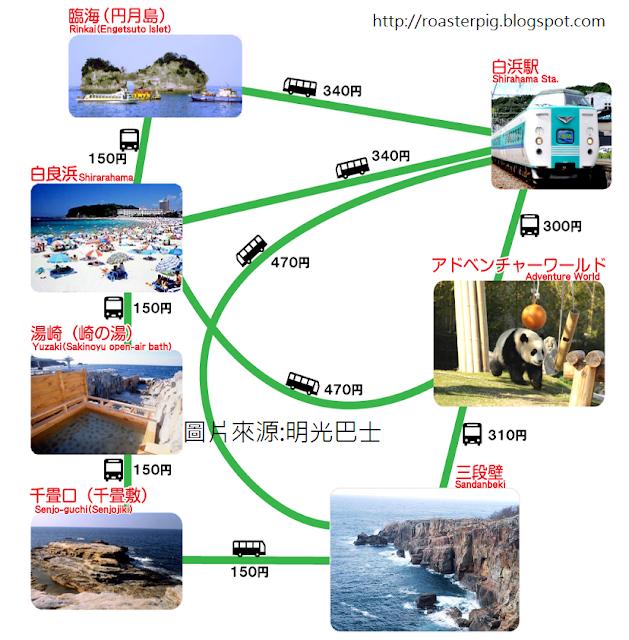 白濱巴士地圖