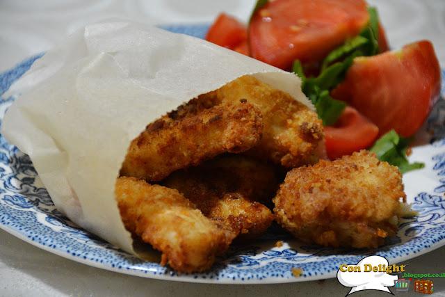 Crispy chicken nuggets אצבעות שניצלונים פריכות