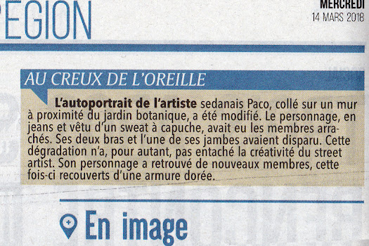 article de presse street art paco