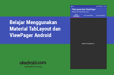 Belajar Cara Membuat Menggunakan Contoh Coding Code Material TabLayout dan ViewPager Aplikasi Android Studio