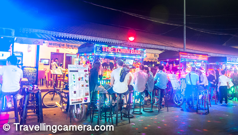 These small bike-driven streets-side mini bars were really cool. Since Cambodian people are generally nice, sitting here and sipping on a drink would be a calming experience.