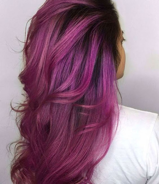 in love with magenta hair colors