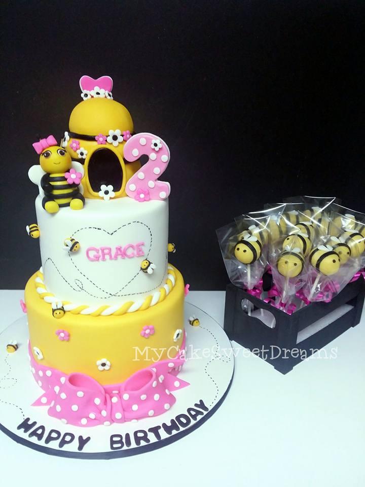 Astonishing Cakesbyzana Bumble Bee Birthday Cake Funny Birthday Cards Online Inifofree Goldxyz