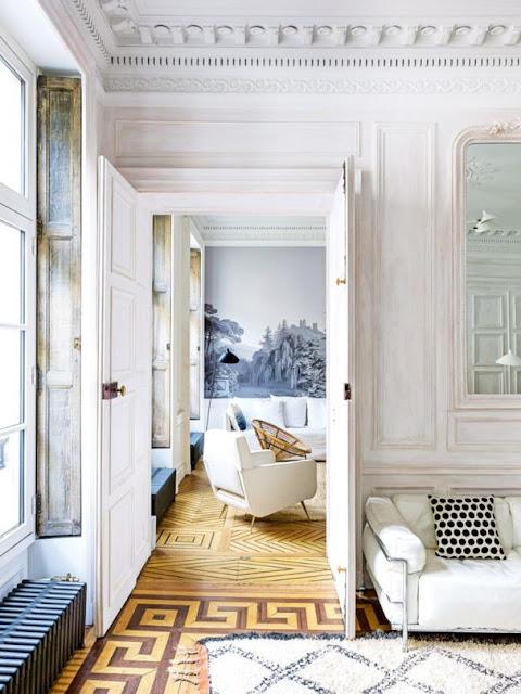 Decoration De Chambre Dans Des Grandes Maisons Noir Et Blanc