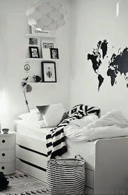 Bilik Tidur Tema Hitam Putih