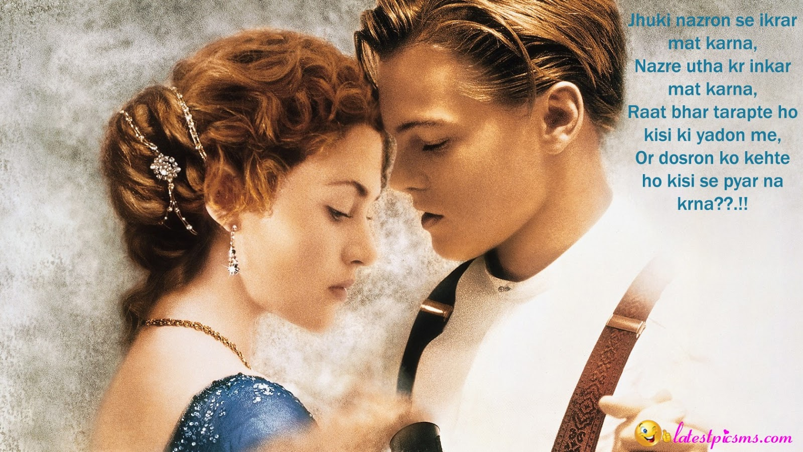 Titanic Couple Love Background HD photo - Cute Love Messages in Hindi with Photos Quotes with Facebook & Fb