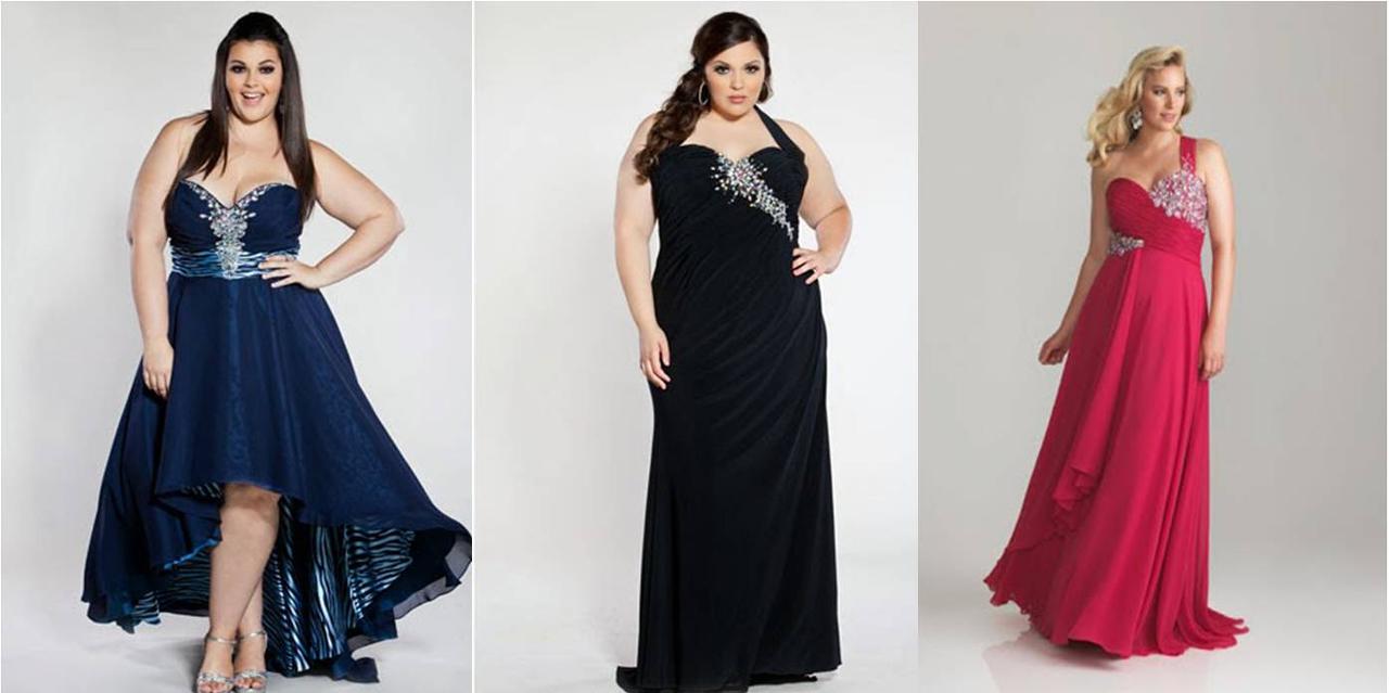 Vestidos de noche para gorditas y chaparritas 2016