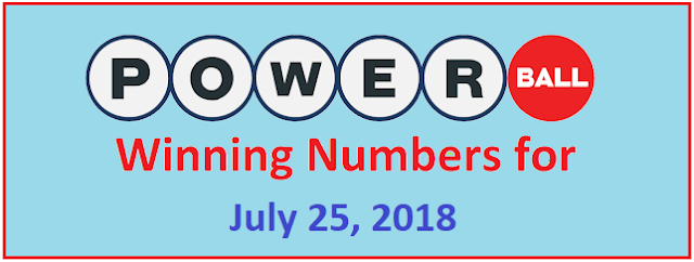 PowerBall Winning Numbers for Wednesday, 25 July 2018