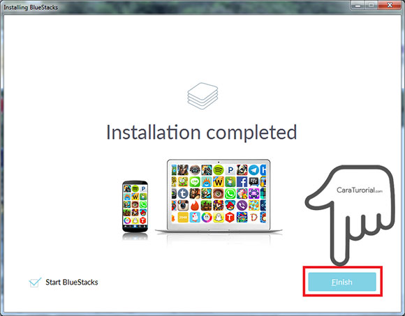 BlueStacks Installation Completed
