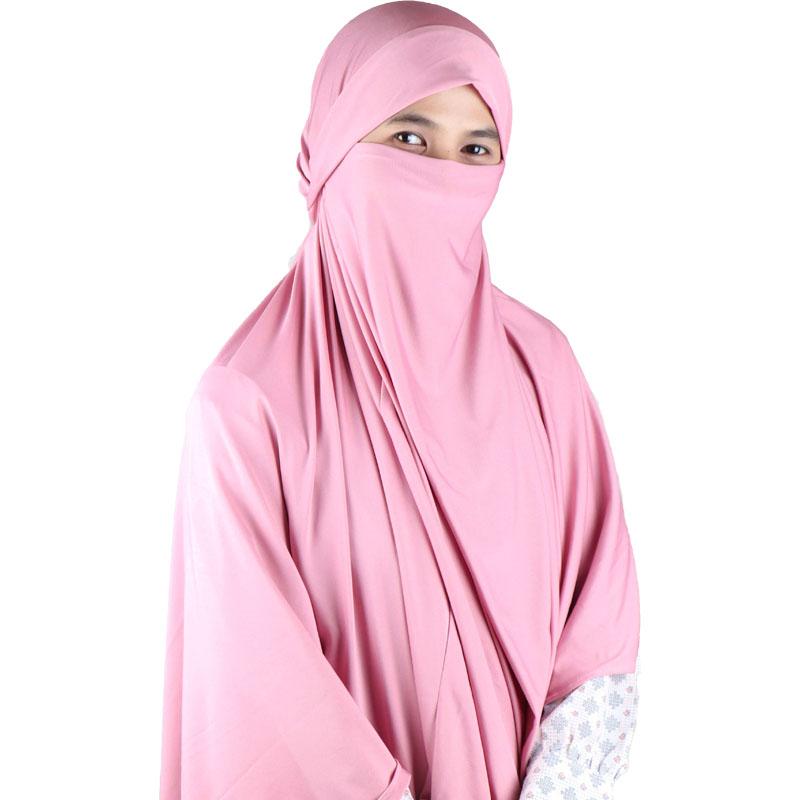 Kerudung Syari / Kerudung Corona Niqab Cadar - Pink