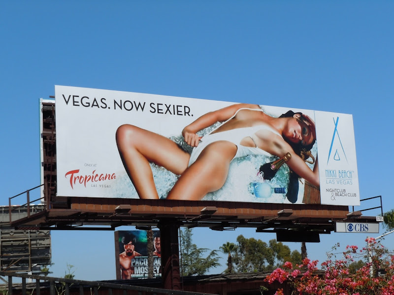 Nikki Beach Vegas bikini model billboard